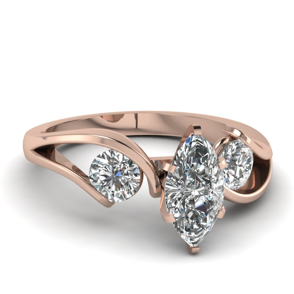 Rose Gold Engagement Rings Rose Gold Engagement Rings Marquise Diamond