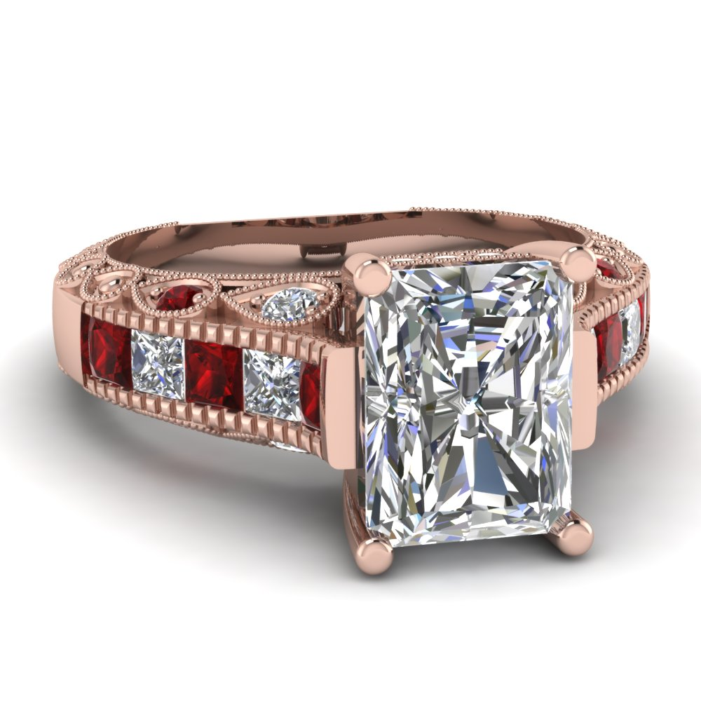 Channel Set Diamond Anniversary Ring for Women