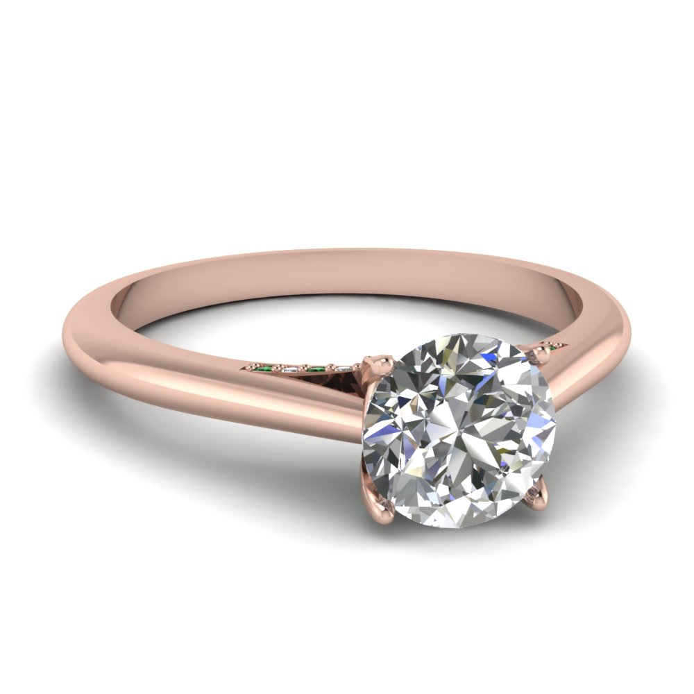 Elegant Thin Band Engagement Rings