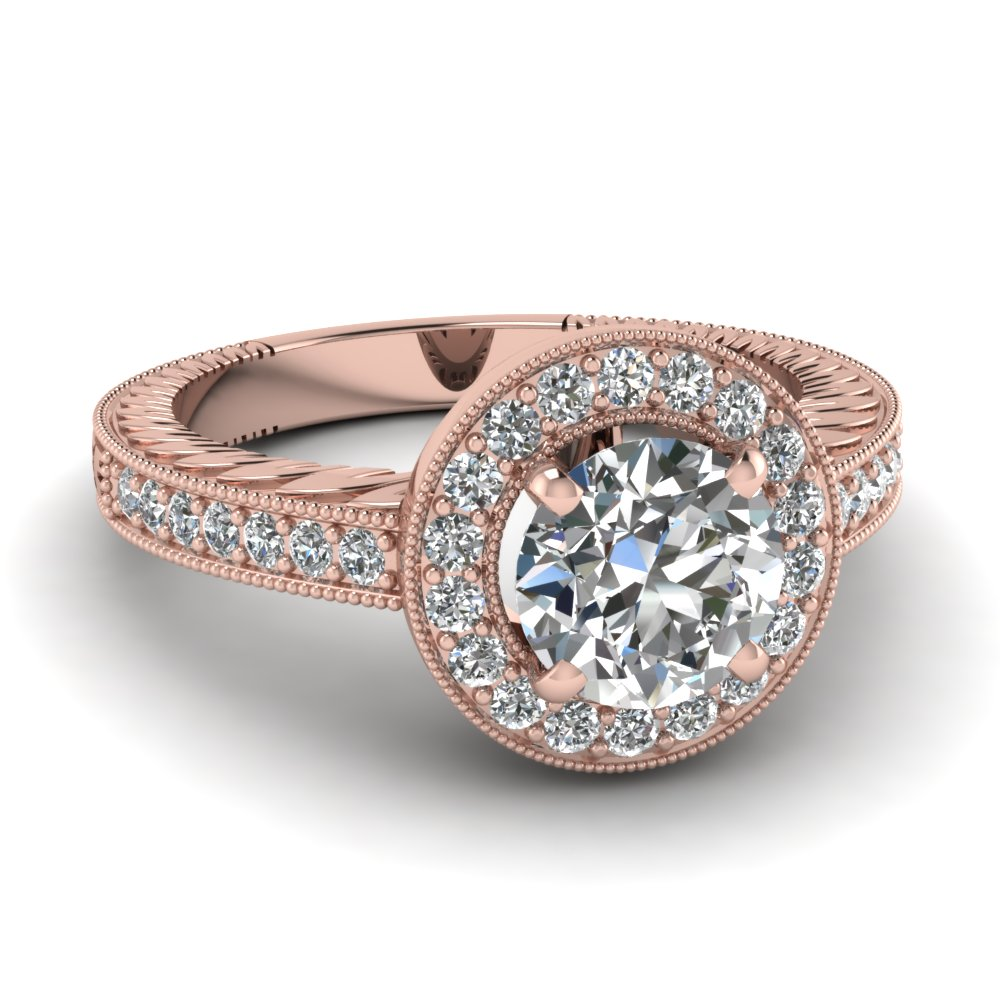 rose gold ring rose gold ring diamond halo rings