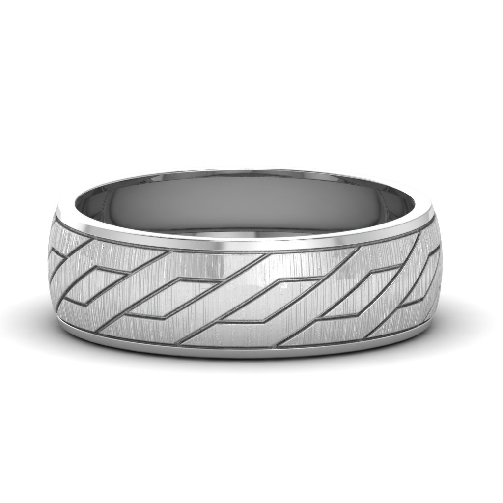 white-gold-diamond-cut-groove-men's-wedding-band-FDLWM634B-NL-WG