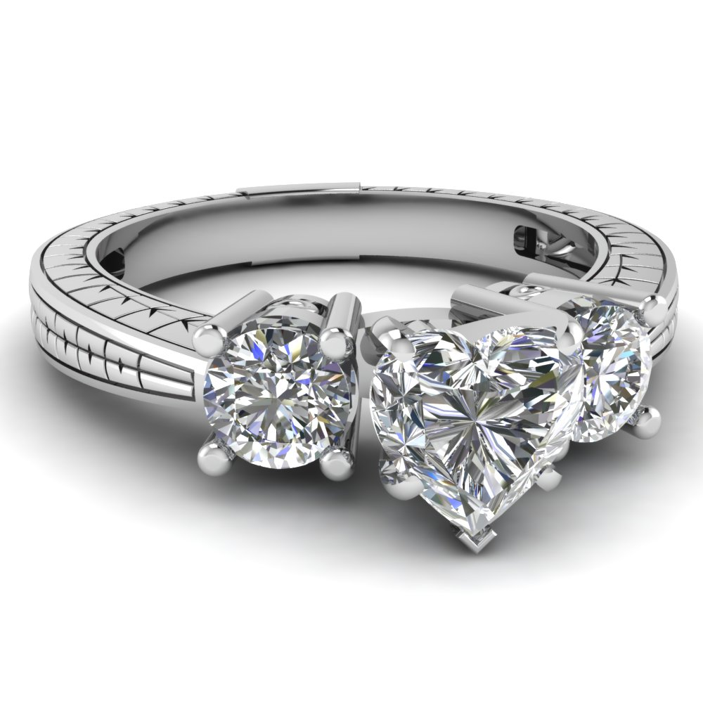 ring designs heart shaped diamond ring designs