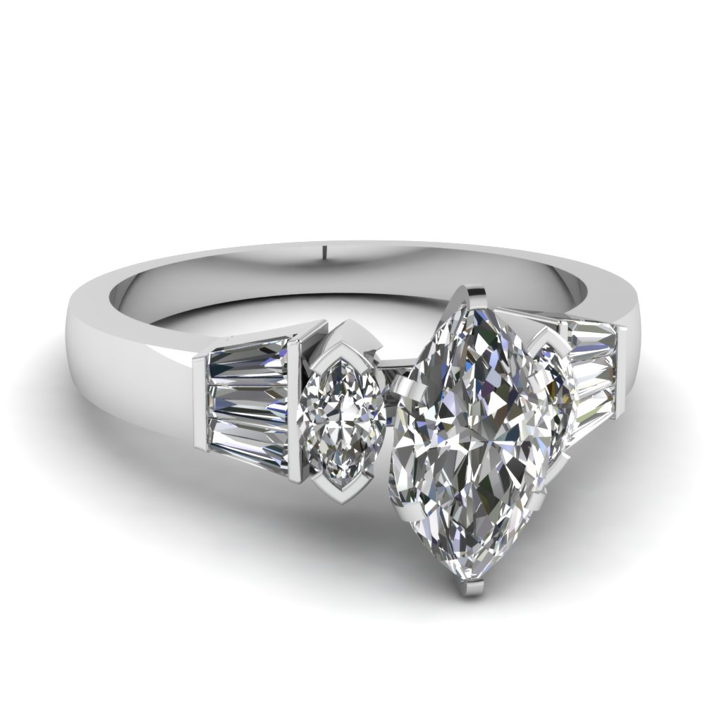 marquise baguette ring fascinating diamonds With marquise diamond wedding ring