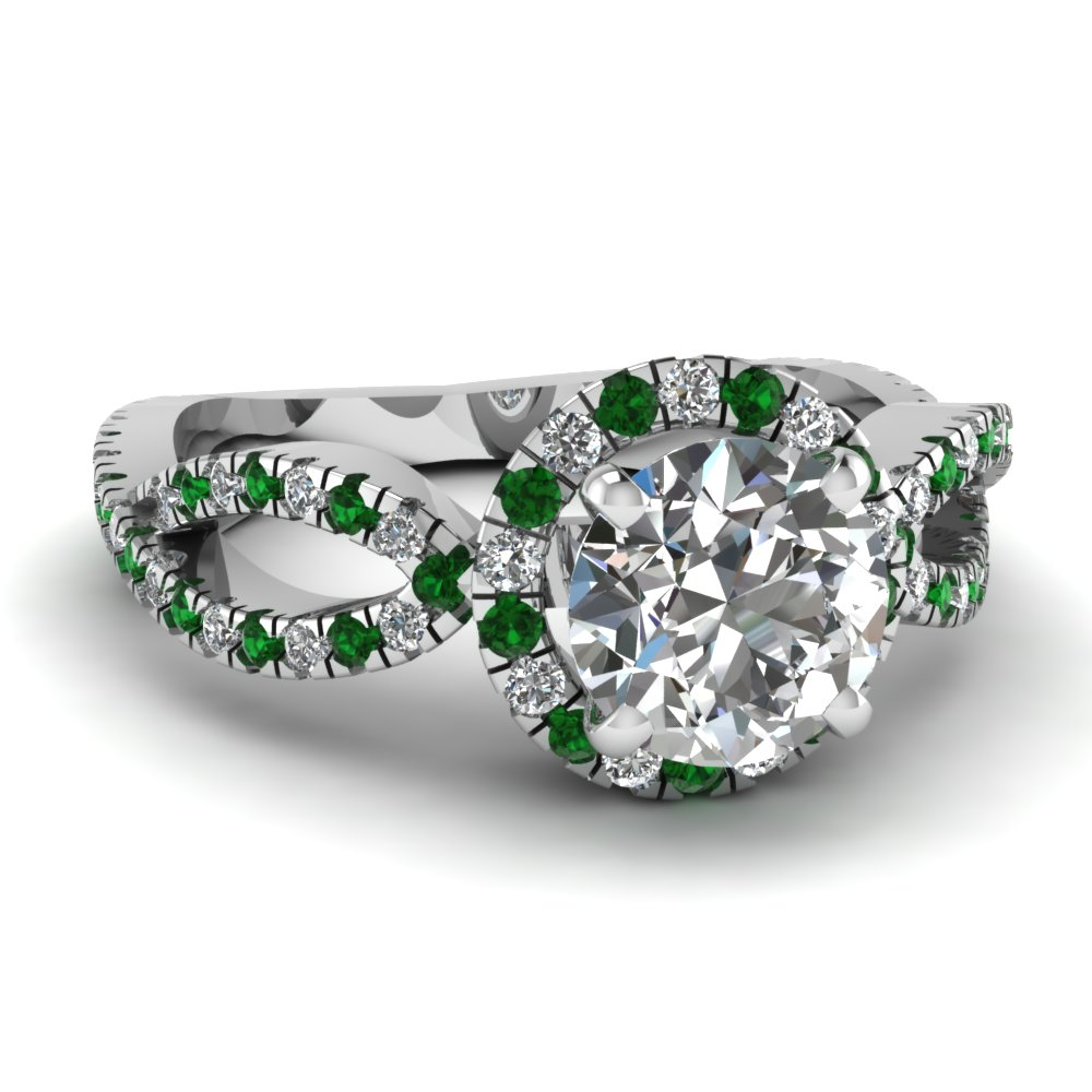 The gallery for gt green emerald diamond engagement rings for Emerald green wedding ring