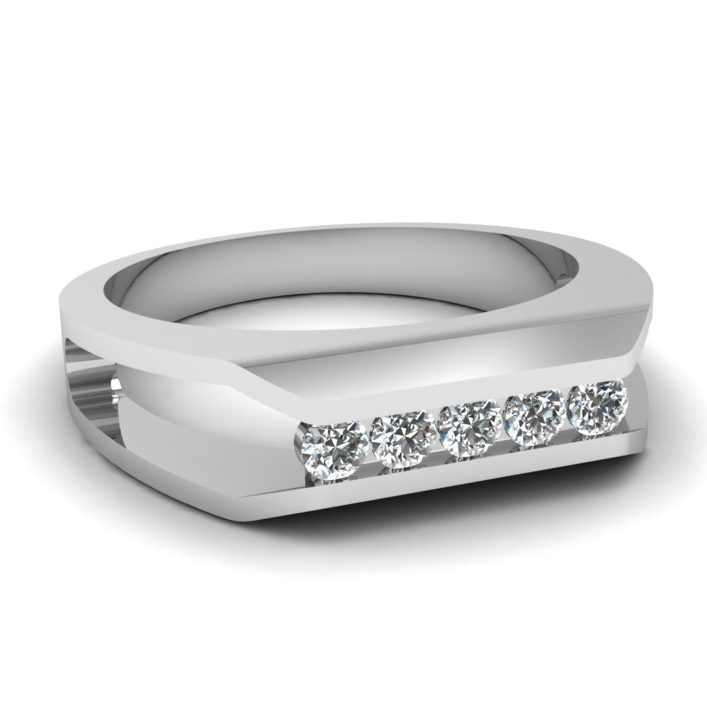 Squared channel ring fascinating diamonds for Mens wedding rings with diamonds white gold