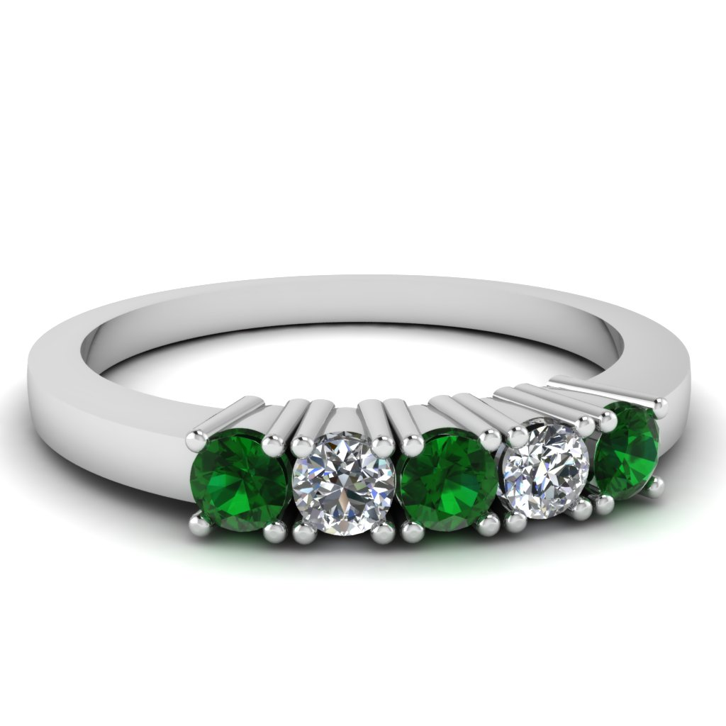 ring anniversary deco emerald products bands gold eternity sets large diamond white wedding band art rose ruby