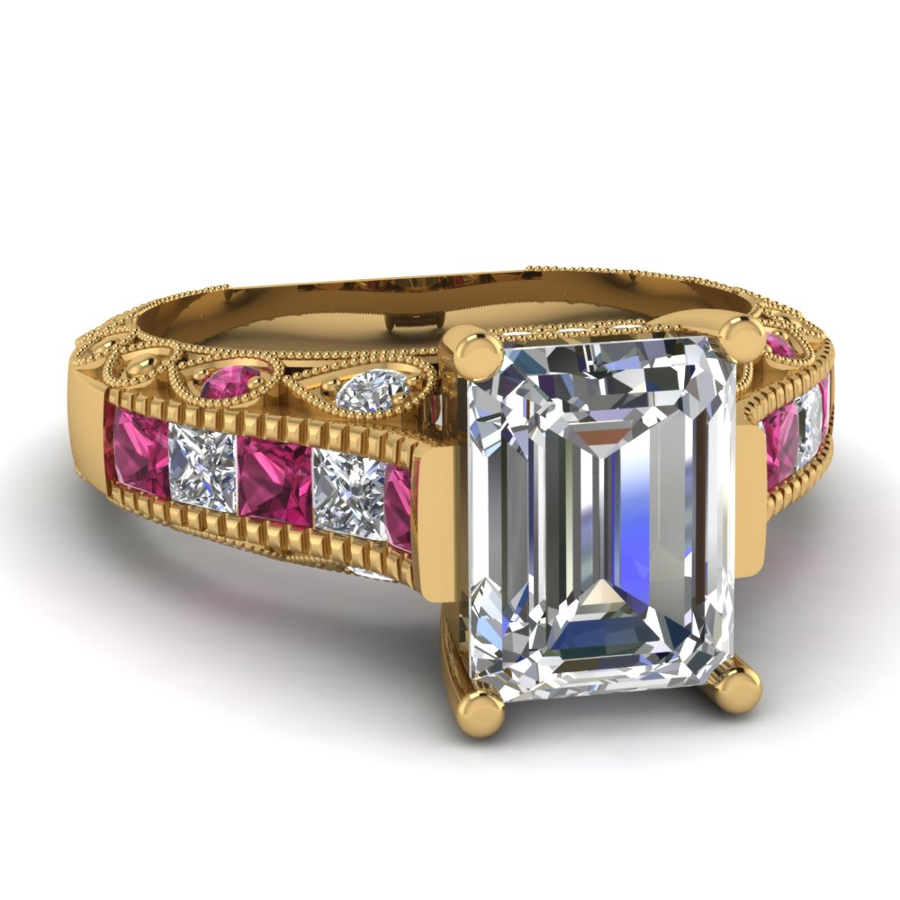 Purchase Bright 14k Yellow Gold Engagement Rings | Fascinating Diamonds