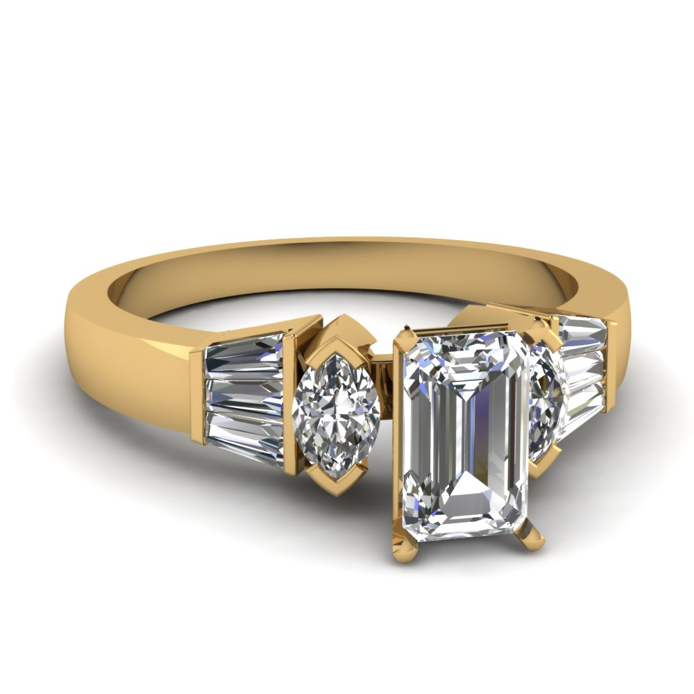 Marquise Baguette Diamond Ring