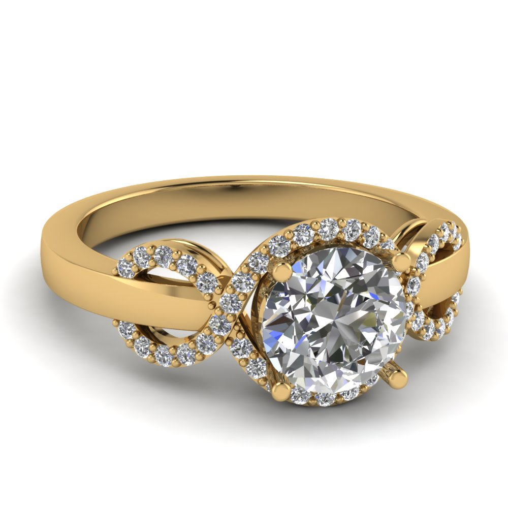 round diamond halo engagement ring - Selling Wedding Ring